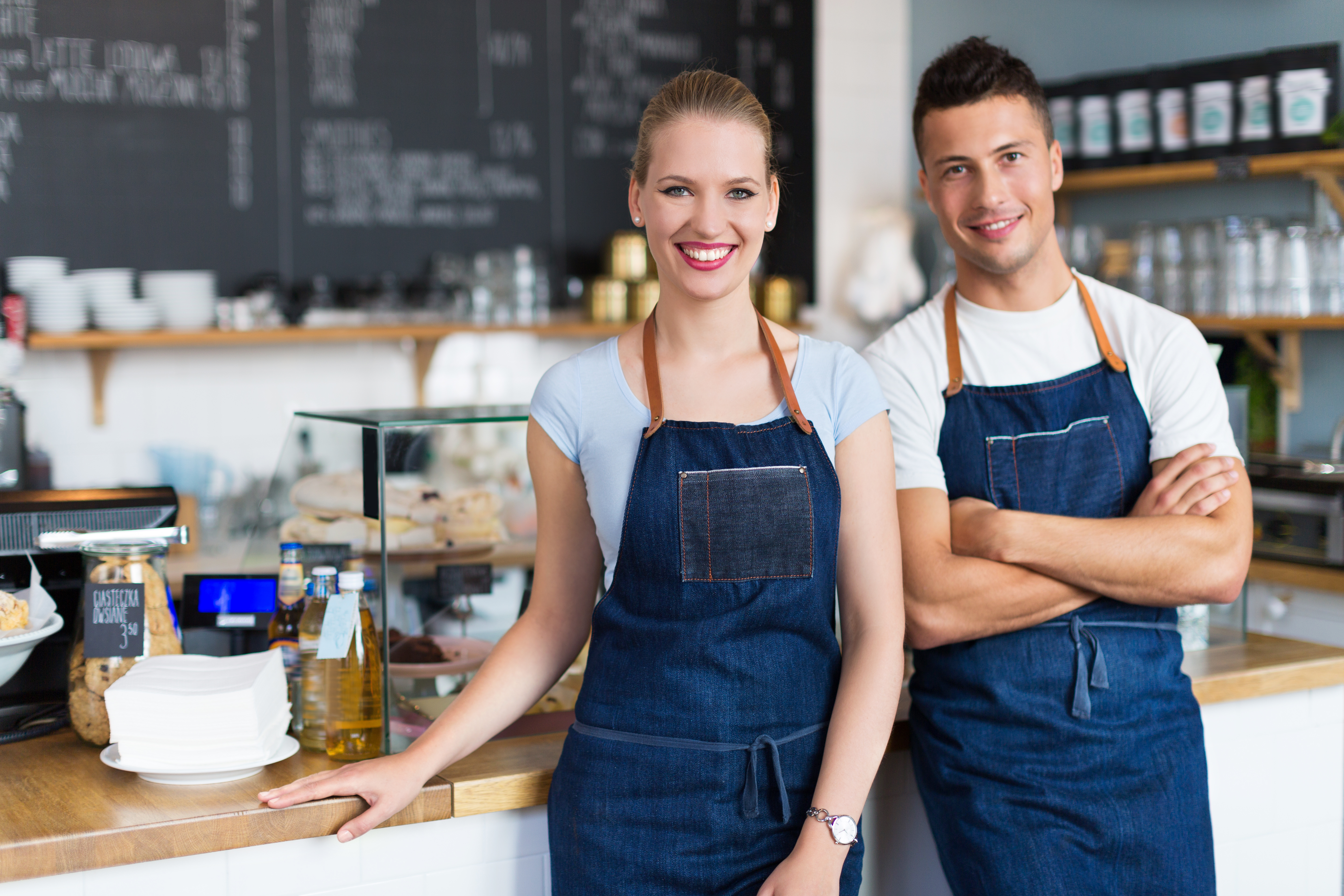 Two business owners